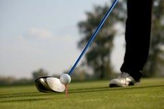 Παίζοντας γκολφ προσώπων, χαμηλό τμήμα Στοκ Εικόνες