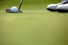 Παίζοντας γκολφ προσώπων, χαμηλό τμήμα Στοκ Φωτογραφίες