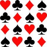 Παίζοντας εικονίδια καρτών πόκερ απεικόνιση αποθεμάτων
