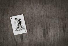 Παίζοντας μαύρος πλακατζής καρτών Στοκ Εικόνες