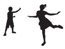 Παίζοντας μορφές παιδιών Στοκ Εικόνες