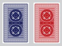 Παίζοντας πίσω σχέδια καρτών Στοκ Εικόνες