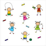Παίζοντας παιδιά Στοκ Εικόνες