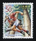 Παίζοντας ποδόσφαιρο γραμματοσήμων Στοκ εικόνα με δικαίωμα ελεύθερης χρήσης