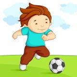 Παίζοντας ποδόσφαιρο κατσικιών ελεύθερη απεικόνιση δικαιώματος
