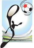 παίζοντας ποδόσφαιρο σκ&io Στοκ φωτογραφία με δικαίωμα ελεύθερης χρήσης