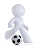 παίζοντας ποδόσφαιρο Διανυσματική απεικόνιση