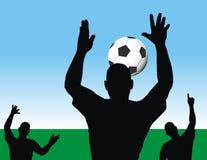 παίζοντας ποδόσφαιρο Στοκ φωτογραφίες με δικαίωμα ελεύθερης χρήσης
