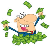 παίζοντας πωλητής σωρών χρ&eta ελεύθερη απεικόνιση δικαιώματος