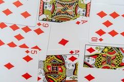 Παίζοντας συλλογή καρτών Στοκ φωτογραφίες με δικαίωμα ελεύθερης χρήσης