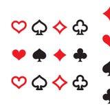 Παίζοντας σύνολο εικονιδίων κοστουμιών καρτών Απομονωμένο διάνυσμα Στοκ εικόνα με δικαίωμα ελεύθερης χρήσης