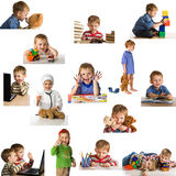 παίζοντας σύνολο παιδιών Στοκ Εικόνες