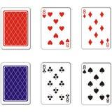 Παίζοντας σύνολο 04 καρτών Στοκ εικόνα με δικαίωμα ελεύθερης χρήσης