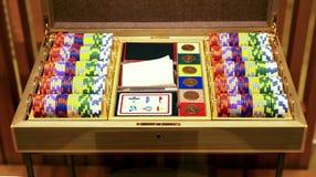 παίζοντας σύνολο πόκερ Στοκ Φωτογραφία