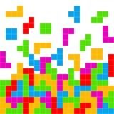 Παίζοντας υπόβαθρο παιχνιδιών Tetris Στοκ Φωτογραφίες