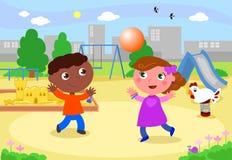 παίζοντας χαμόγελο παιδικών χαρών κατσικιών Στοκ εικόνες με δικαίωμα ελεύθερης χρήσης