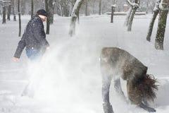 παίζοντας χειμώνας πάρκων &zet στοκ φωτογραφία με δικαίωμα ελεύθερης χρήσης