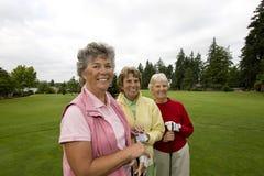 παίκτες γκολφ τρία στοκ φωτογραφίες