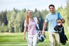 παίκτες γκολφ Στοκ Φωτογραφία