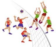 Παίκτες πετοσφαίρισης, ομάδα στην αντιστοιχία Ελεύθερη απεικόνιση δικαιώματος