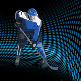 Παίκτες χόκεϋ πάγου. Διανυσματική απεικόνιση Στοκ Φωτογραφία