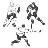 Παίκτες χόκεϋ Στοκ εικόνα με δικαίωμα ελεύθερης χρήσης