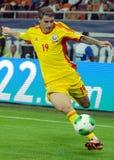 Παίκτες Stancu Bogdan στο παιχνίδι χαρακτηριστή Παγκόσμιου Κυπέλλου Ρουμανία-Τουρκία Στοκ φωτογραφίες με δικαίωμα ελεύθερης χρήσης