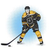 παίκτης απεικόνισης πάγου χόκεϋ σχεδίου εσείς Στοκ εικόνες με δικαίωμα ελεύθερης χρήσης