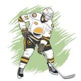 παίκτης απεικόνισης πάγου χόκεϋ σχεδίου εσείς Στοκ Εικόνες