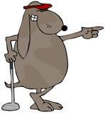 παίκτης γκολφ σκυλιών ελεύθερη απεικόνιση δικαιώματος