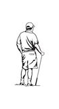 παίκτης γκολφ Στοκ Φωτογραφίες