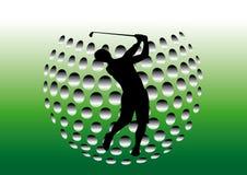 παίκτης γκολφ διανυσματική απεικόνιση