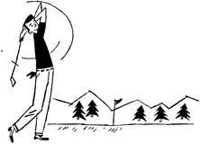 παίκτης γκολφ από να τοπο&th Στοκ φωτογραφίες με δικαίωμα ελεύθερης χρήσης