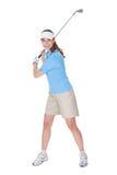 Παίκτης γκολφ με ένα γκολφ κλαμπ Στοκ φωτογραφίες με δικαίωμα ελεύθερης χρήσης