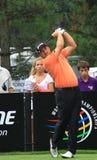 Παίκτης γκολφ Graeme McDowell Teeing Off PGA Στοκ Εικόνες