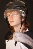 παίκτης πάγου χόκεϋ στοκ φωτογραφία