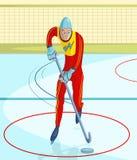 Παίκτης χόκεϋ πάγου ελεύθερη απεικόνιση δικαιώματος