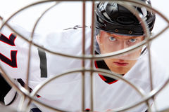 παίκτης χόκεϋ Στοκ φωτογραφία με δικαίωμα ελεύθερης χρήσης