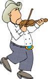παίξτε βιολί το φορέα Στοκ Εικόνες