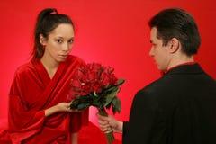 παίρνει τα τριαντάφυλλα κ&o στοκ εικόνα με δικαίωμα ελεύθερης χρήσης