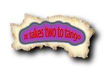 παίρνει το τανγκό σε δύο Στοκ Φωτογραφία