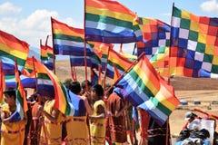 Παίρνοντας έτοιμος για έναν εορτασμό σε Moray, Περού Στοκ φωτογραφίες με δικαίωμα ελεύθερης χρήσης