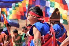 Παίρνοντας έτοιμος για έναν εορτασμό σε Moray, Περού Στοκ εικόνα με δικαίωμα ελεύθερης χρήσης