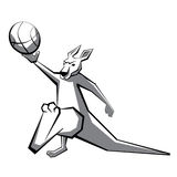 Παίχτης μπάσκετ 2 καγκουρό Στοκ φωτογραφία με δικαίωμα ελεύθερης χρήσης