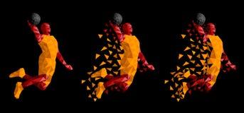 Παίχτης μπάσκετ που πηδά το υψηλό διάνυσμα απεικόνιση αποθεμάτων