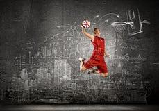 Παίχτης μπάσκετ Στοκ Εικόνα