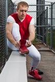 Παίχτης του μπέιζμπολ Στοκ Φωτογραφία