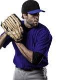 Παίχτης του μπέιζμπολ σταμνών Στοκ Εικόνα