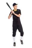 Παίχτης του μπέιζμπολ τύπων με ένα ρόπαλο Στοκ Εικόνες
