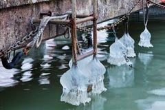 παγάκια κουδουνιών που διαμορφώνονται Στοκ Εικόνες
